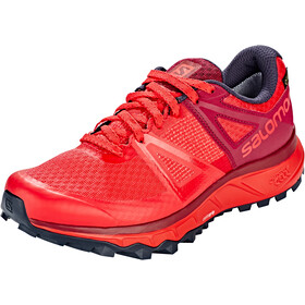 Salomon Trailster GTX Shoes Dame hibiscus/beet red/graphite
